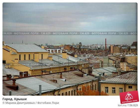 Купить «Город. Крыши», фото № 136829, снято 13 октября 2006 г. (c) Марина Дмитриевых / Фотобанк Лори