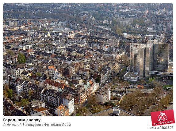 Город, вид сверху, фото № 306597, снято 29 ноября 2016 г. (c) Николай Винокуров / Фотобанк Лори