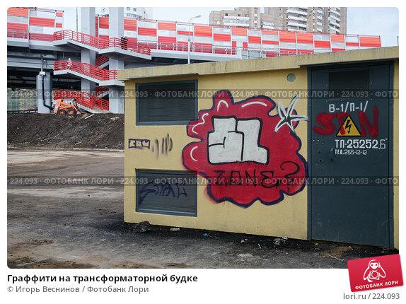 Купить «Граффити на трансформаторной будке», фото № 224093, снято 15 марта 2008 г. (c) Игорь Веснинов / Фотобанк Лори