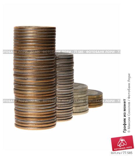Купить «График из монет», фото № 77585, снято 24 июля 2007 г. (c) Максим Соколов / Фотобанк Лори