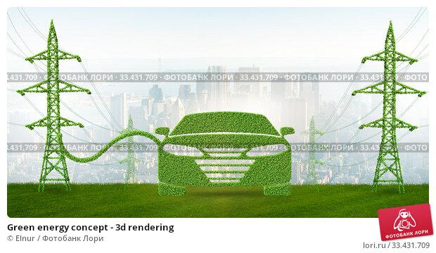 Купить «Green energy concept - 3d rendering», фото № 33431709, снято 2 апреля 2020 г. (c) Elnur / Фотобанк Лори