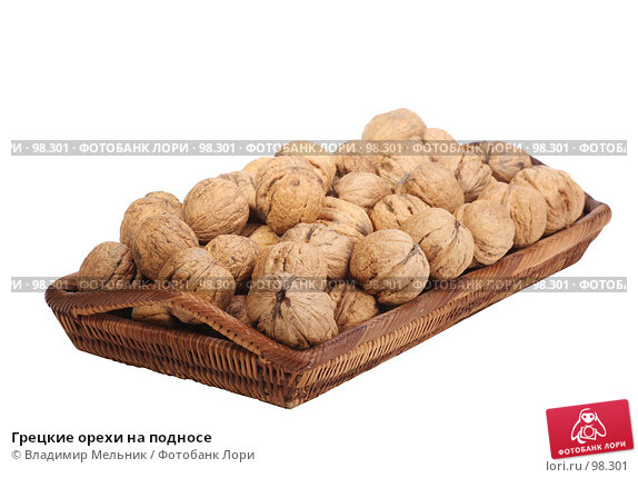 Грецкие орехи на подносе, фото № 98301, снято 11 октября 2007 г. (c) Владимир Мельник / Фотобанк Лори