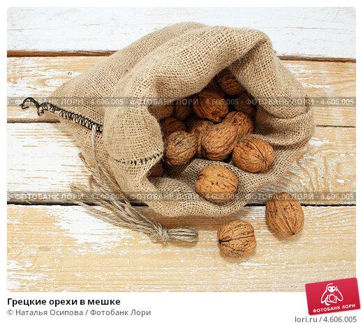 Купить «Грецкие орехи в мешке», эксклюзивное фото № 4606005, снято 9 мая 2013 г. (c) Наталья Осипова / Фотобанк Лори