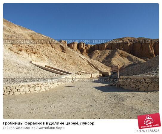 Гробницы фараонов в Долине царей. Луксор, фото № 188525, снято 15 января 2008 г. (c) Яков Филимонов / Фотобанк Лори