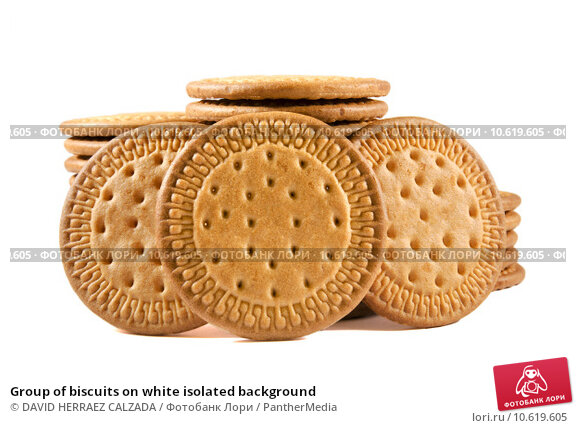 Group of biscuits on white isolated background. Стоковое фото, фотограф DAVID HERRAEZ CALZADA / PantherMedia / Фотобанк Лори