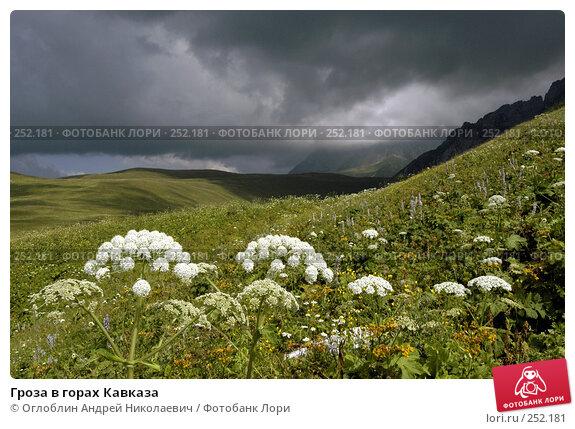 Гроза в горах Кавказа, фото № 252181, снято 25 марта 2017 г. (c) Оглоблин Андрей Николаевич / Фотобанк Лори