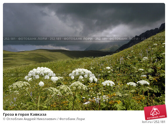 Гроза в горах Кавказа, фото № 252181, снято 24 октября 2016 г. (c) Оглоблин Андрей Николаевич / Фотобанк Лори