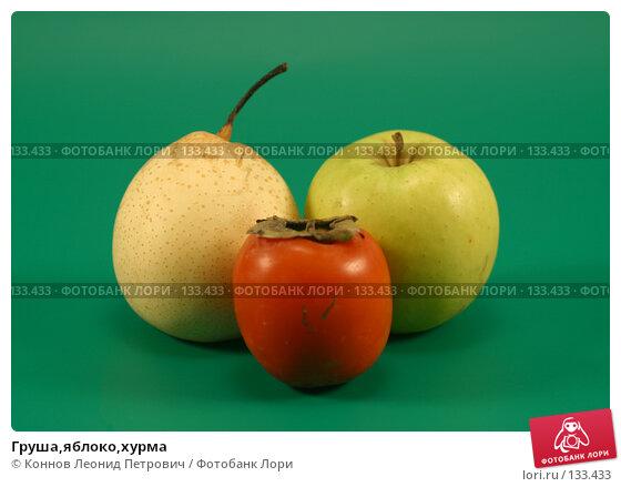 Купить «Груша,яблоко,хурма», фото № 133433, снято 1 декабря 2007 г. (c) Коннов Леонид Петрович / Фотобанк Лори