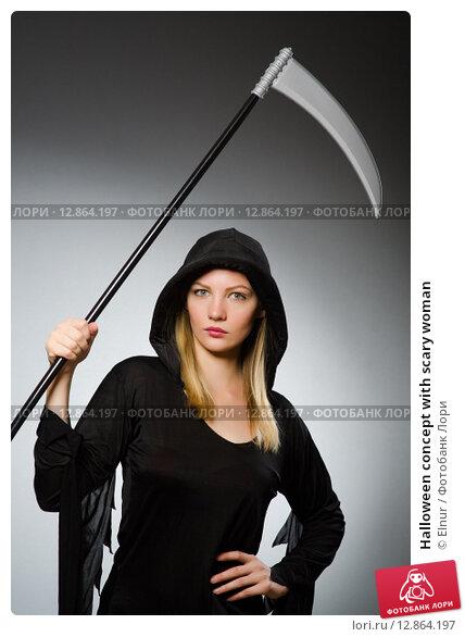 Купить «Halloween concept with scary woman», фото № 12864197, снято 17 августа 2014 г. (c) Elnur / Фотобанк Лори