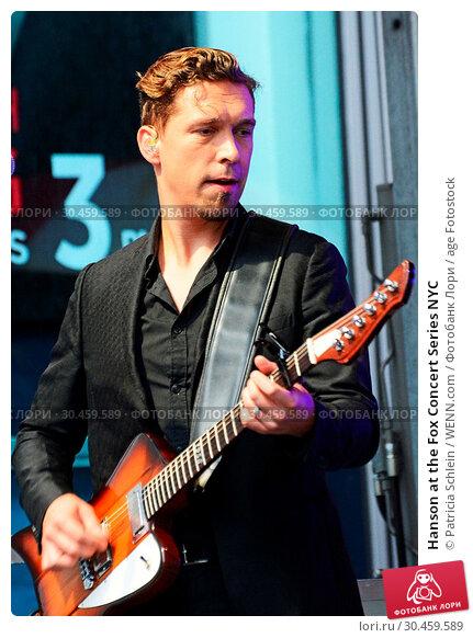 Hanson at the Fox Concert Series NYC (2017 год). Редакционное фото, фотограф Patricia Schlein / WENN.com / age Fotostock / Фотобанк Лори