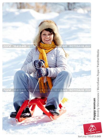 Happy woman. Стоковое фото, фотограф Dmitriy Shironosov / PantherMedia / Фотобанк Лори