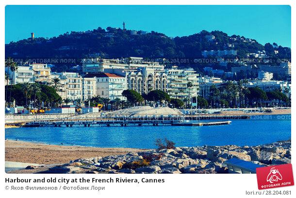 Купить «Harbour and old city at the French Riviera, Cannes», фото № 28204081, снято 3 декабря 2017 г. (c) Яков Филимонов / Фотобанк Лори