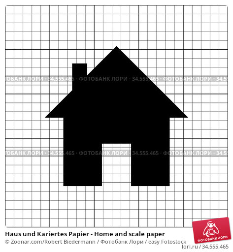 Haus und Kariertes Papier - Home and scale paper. Стоковое фото, фотограф Zoonar.com/Robert Biedermann / easy Fotostock / Фотобанк Лори