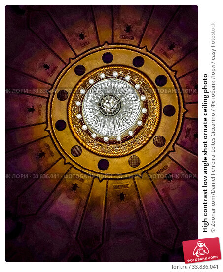 Купить «High contrast low angle shot ornate ceiling photo», фото № 33836041, снято 30 мая 2020 г. (c) easy Fotostock / Фотобанк Лори
