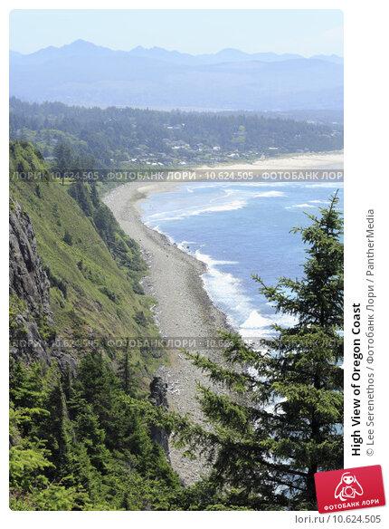 High View of Oregon Coast. Стоковое фото, фотограф Lee Serenethos / PantherMedia / Фотобанк Лори