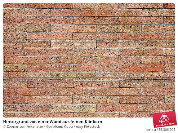 Hintergrund von einer Wand aus feinen Klinkern. Стоковое фото, фотограф Zoonar.com/elxeneize / easy Fotostock / Фотобанк Лори