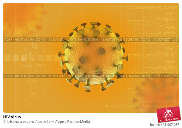Купить «HIV Virus  », фото № 11907037, снято 22 сентября 2018 г. (c) PantherMedia / Фотобанк Лори