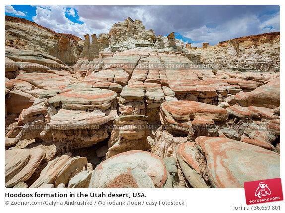 Hoodoos formation in the Utah desert, USA. Стоковое фото, фотограф Zoonar.com/Galyna Andrushko / easy Fotostock / Фотобанк Лори