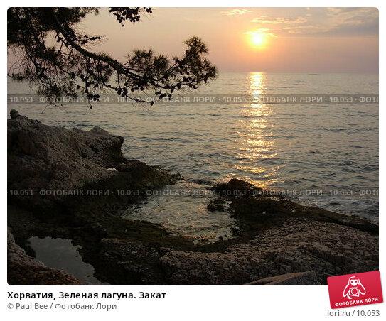 Хорватия, Зеленая лагуна. Закат, фото № 10053, снято 14 июля 2006 г. (c) Paul Bee / Фотобанк Лори