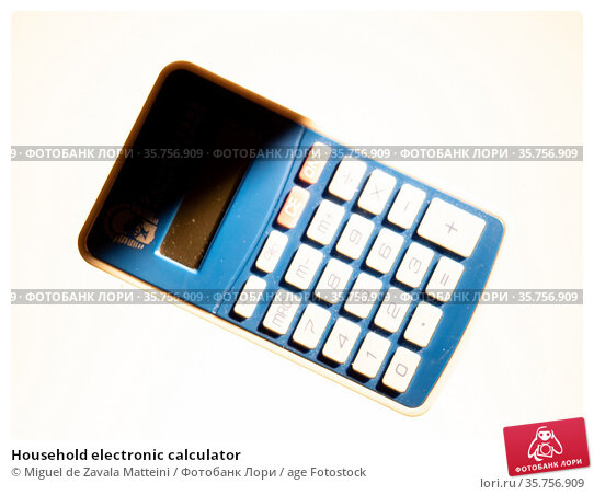 Household electronic calculator. Стоковое фото, фотограф Miguel de Zavala Matteini / age Fotostock / Фотобанк Лори