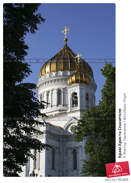 Храм Христа Спасителя, эксклюзивное фото № 99809, снято 15 июня 2006 г. (c) Виктор Тараканов / Фотобанк Лори