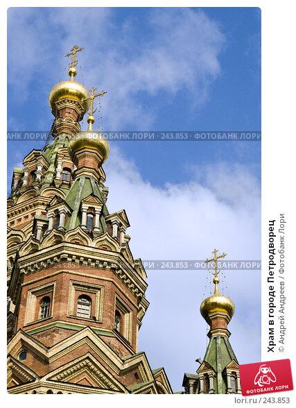 Храм в городе Петродворец, фото № 243853, снято 26 августа 2006 г. (c) Андрей Андреев / Фотобанк Лори