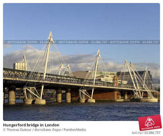 Купить «Hungerford bridge in London», фото № 33086737, снято 18 февраля 2020 г. (c) PantherMedia / Фотобанк Лори