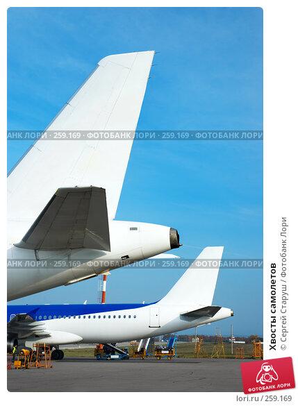 Хвосты самолетов, фото № 259169, снято 31 октября 2007 г. (c) Сергей Старуш / Фотобанк Лори