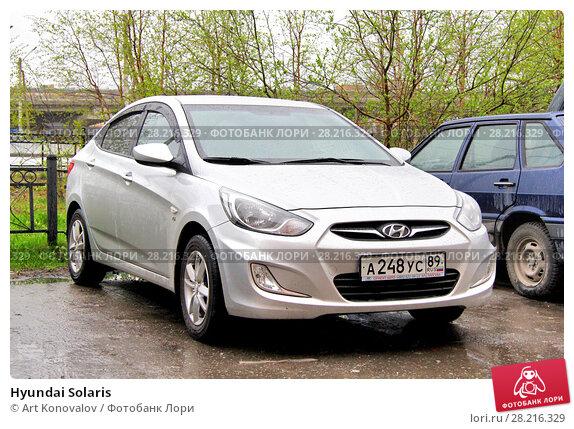Купить «Hyundai Solaris», фото № 28216329, снято 20 июня 2014 г. (c) Art Konovalov / Фотобанк Лори