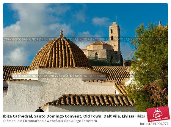 Купить «Ibiza Cathedral, Santo Domingo Convent, Old Town, Dalt Vila, Eivissa, Ibiza, Balearic Islands, Spain, Mediterranean, Europe.», фото № 14900777, снято 18 июня 2018 г. (c) age Fotostock / Фотобанк Лори