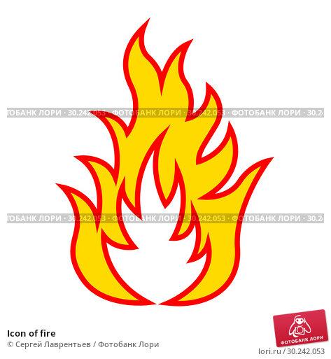 Купить «Icon of fire», иллюстрация № 30242053 (c) Сергей Лаврентьев / Фотобанк Лори