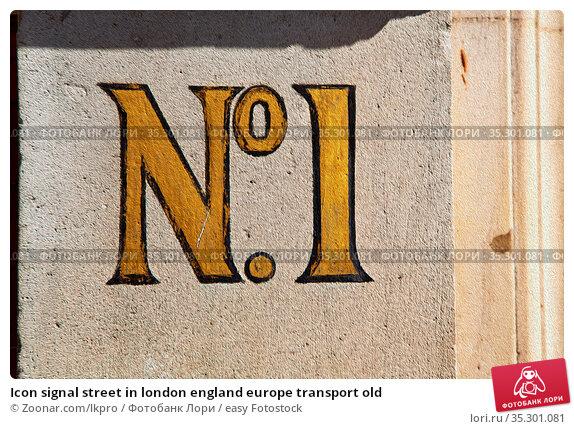 Icon signal street in london england europe transport old. Стоковое фото, фотограф Zoonar.com/lkpro / easy Fotostock / Фотобанк Лори