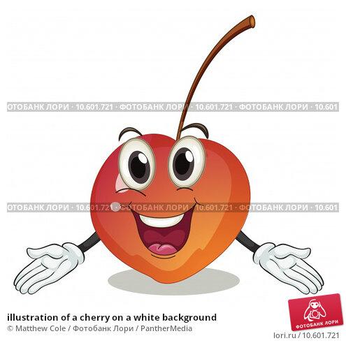 illustration of a cherry on a white background. Стоковая иллюстрация, иллюстратор Matthew Cole / PantherMedia / Фотобанк Лори
