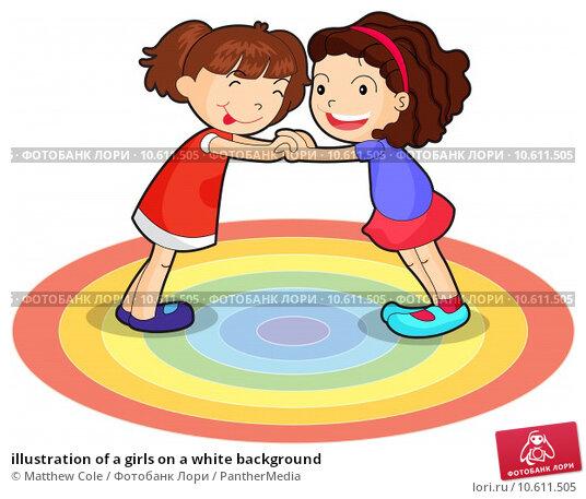 illustration of a girls on a white background. Стоковая иллюстрация, иллюстратор Matthew Cole / PantherMedia / Фотобанк Лори