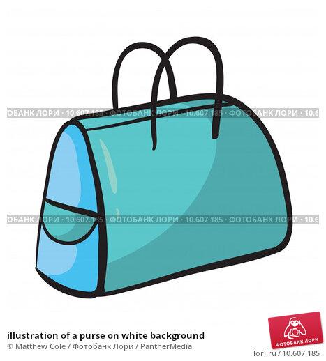 illustration of a purse on white background. Стоковая иллюстрация, иллюстратор Matthew Cole / PantherMedia / Фотобанк Лори