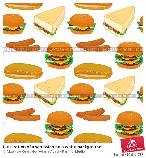 illustration of a sandwich on a white background. Стоковая иллюстрация, иллюстратор Matthew Cole / PantherMedia / Фотобанк Лори