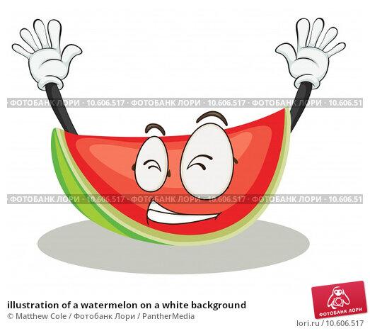 illustration of a watermelon on a white background. Стоковая иллюстрация, иллюстратор Matthew Cole / PantherMedia / Фотобанк Лори