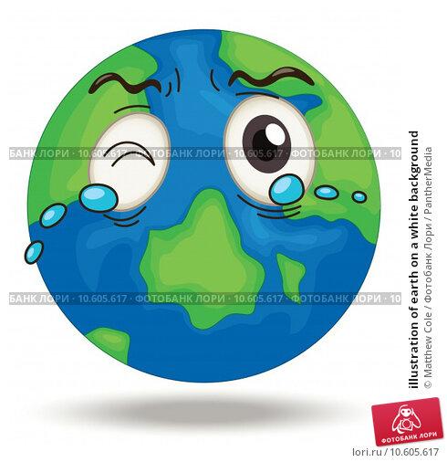 illustration of earth on a white background. Стоковая иллюстрация, иллюстратор Matthew Cole / PantherMedia / Фотобанк Лори
