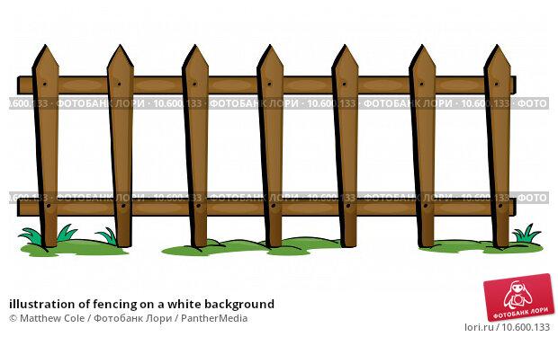 illustration of fencing on a white background. Стоковая иллюстрация, иллюстратор Matthew Cole / PantherMedia / Фотобанк Лори