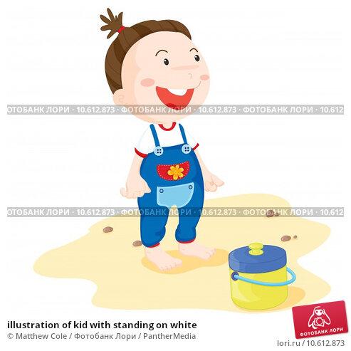 illustration of kid with standing on white. Стоковая иллюстрация, иллюстратор Matthew Cole / PantherMedia / Фотобанк Лори