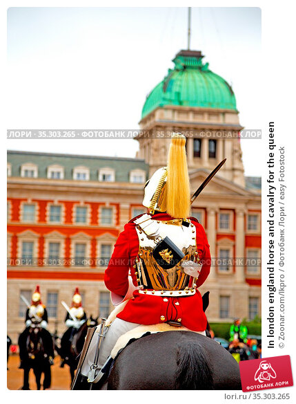 In london england horse and cavalry for the queen. Стоковое фото, фотограф Zoonar.com/lkpro / easy Fotostock / Фотобанк Лори