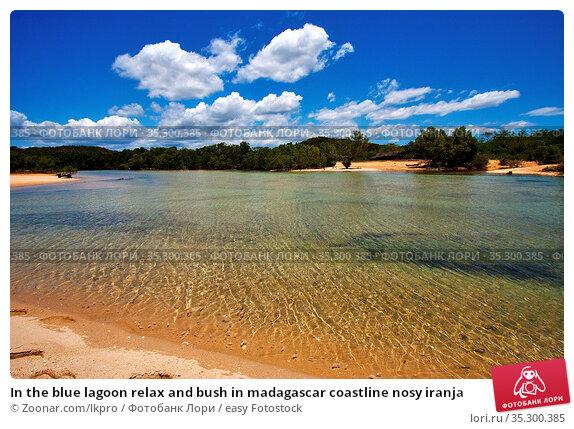 In the blue lagoon relax and bush in madagascar coastline nosy iranja. Стоковое фото, фотограф Zoonar.com/lkpro / easy Fotostock / Фотобанк Лори