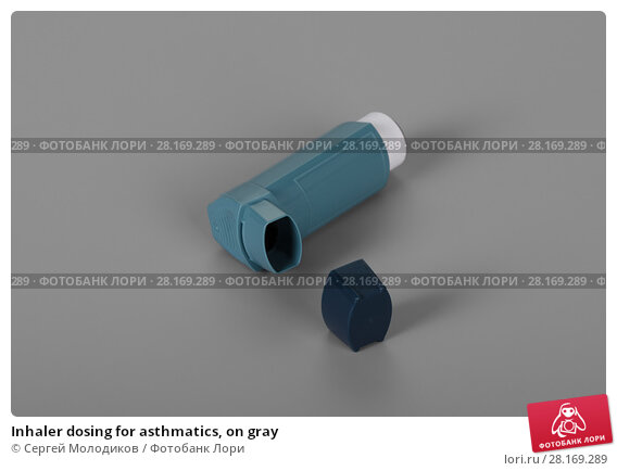 Купить «Inhaler dosing for asthmatics, on gray», фото № 28169289, снято 2 мая 2017 г. (c) Сергей Молодиков / Фотобанк Лори