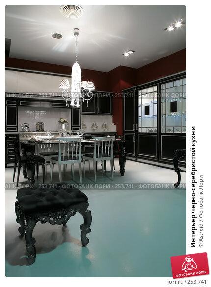 Интерьер черно-серебристой кухни, фото № 253741, снято 8 апреля 2008 г. (c) Astroid / Фотобанк Лори