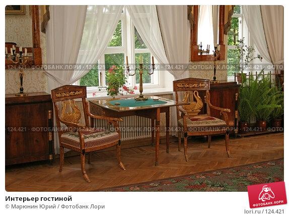 Интерьер гостиной, фото № 124421, снято 1 июля 2007 г. (c) Марюнин Юрий / Фотобанк Лори