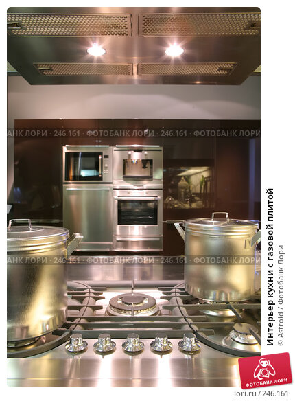 Интерьер кухни с газовой плитой, фото № 246161, снято 8 апреля 2008 г. (c) Astroid / Фотобанк Лори