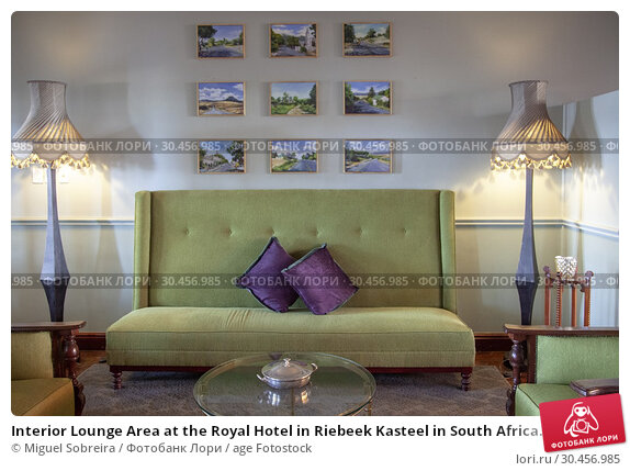 Interior Lounge Area at the Royal Hotel in Riebeek Kasteel in South Africa. (2018 год). Редакционное фото, фотограф Miguel Sobreira / age Fotostock / Фотобанк Лори
