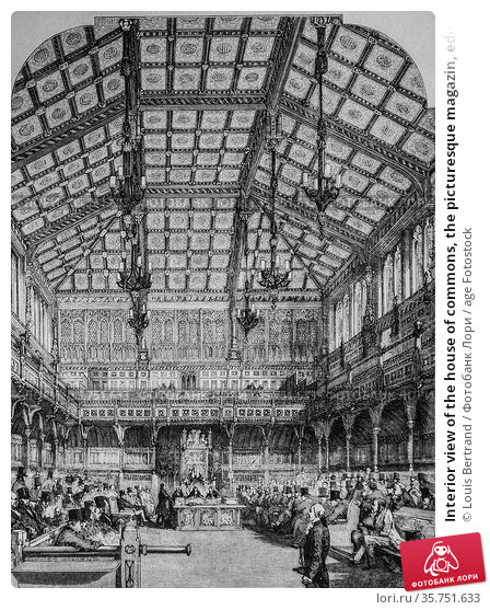 Interior view of the house of commons, the picturesque magazin, editor... (2009 год). Редакционное фото, фотограф Louis Bertrand / age Fotostock / Фотобанк Лори