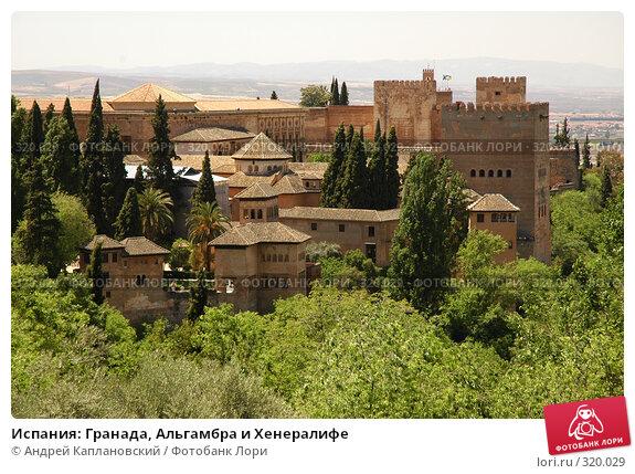 Купить «Испания: Гранада, Альгамбра и Хенералифе», фото № 320029, снято 1 мая 2008 г. (c) Андрей Каплановский / Фотобанк Лори