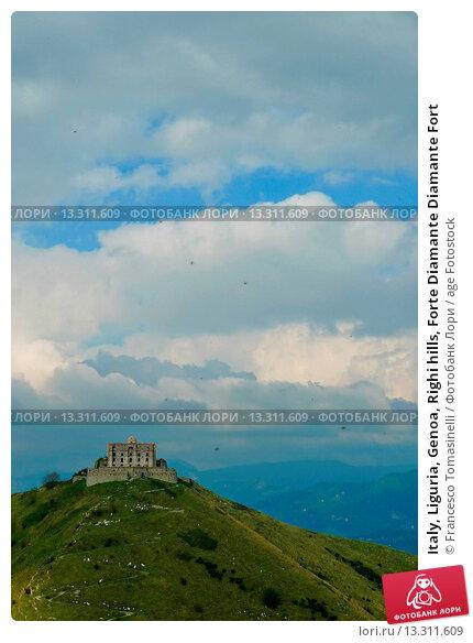 Italy, Liguria, Genoa, Righi hills, Forte Diamante Diamante Fort. Стоковое фото, фотограф Francesco Tomasinelli / age Fotostock / Фотобанк Лори